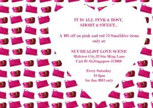 We love red/pink sale at Surrealist Love Scene Jan 2012