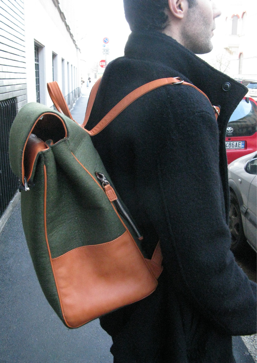 72Smalldive+Premium Handmade+Mens+Woolfelt+Leather+Haversack