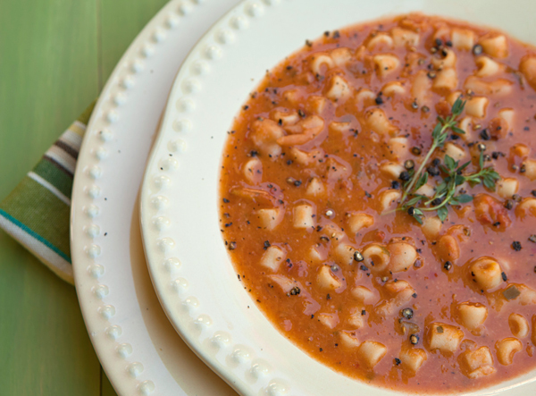 Nonna knows best: Pastafagioli (Pasta and beans) is a traditional Italian meal balanced with vegetable protein and a moderate amount of carb